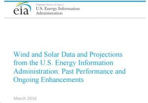 EIA Solar Wind Forecasts