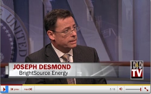 Joseph Desmond of BrightSource Energy: Ivanpah a Model for Future CSP Projects