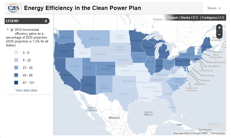 Map Shows How States Are Progressing Towards Meeting EPA's 1.5%-Per-Year Energy Efficiency Goal