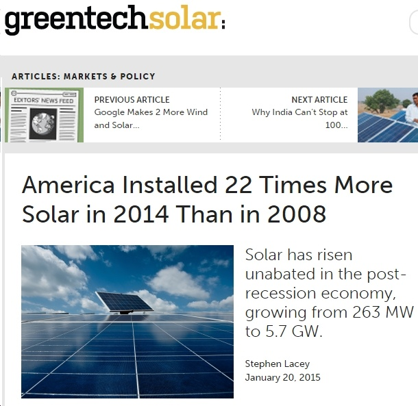 Solar Power Grows by Leaps and Bounds in USA...But NOT in Virginia