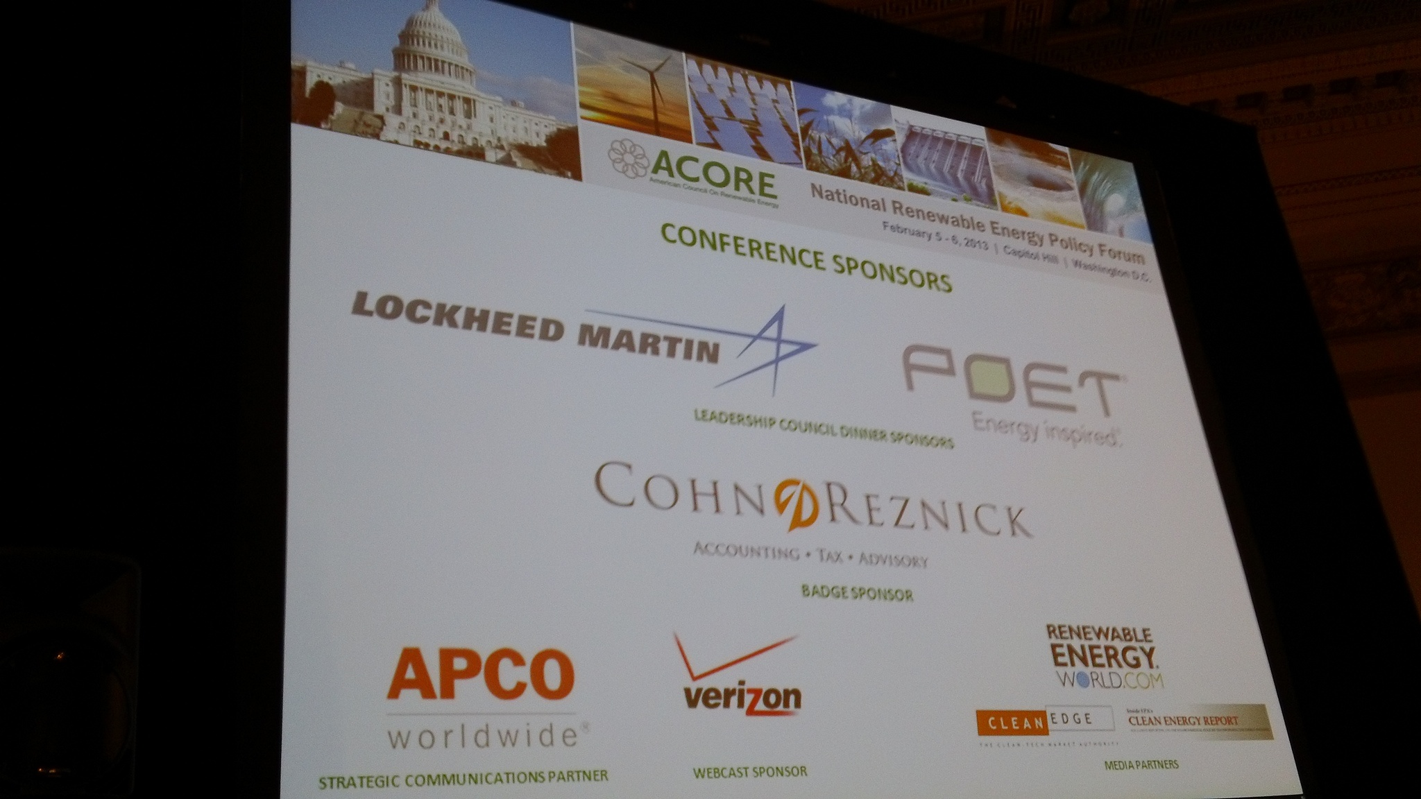 Highlights from ACORE's National Renewable Energy Policy Forum