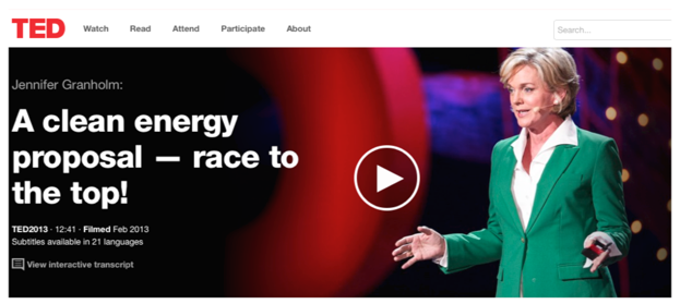 TED TALK: MICHIGAN GOVERNOR JENNIFER GRANHOLM